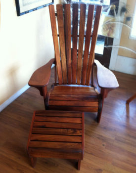 hawaiian-koa-wood-chair-and-ottoman