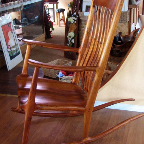 Koa Wood Rocking Chair Hawaii Treasure Mill